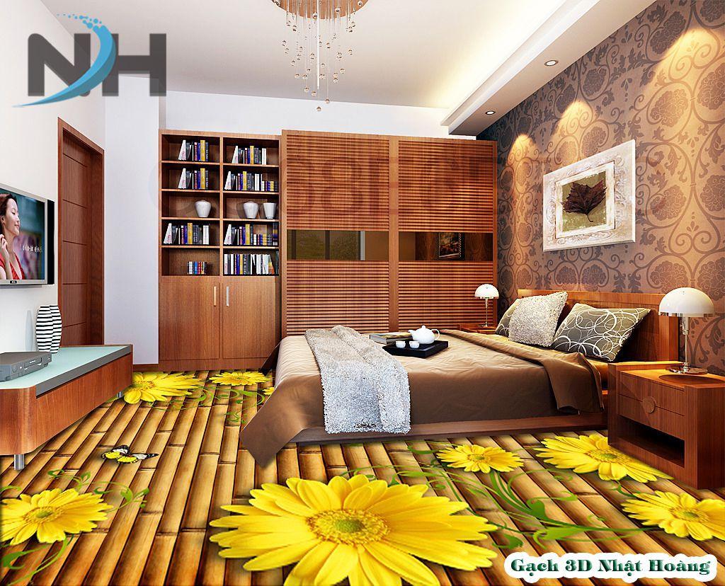 Gạch lát nền 5D phòng ngủ