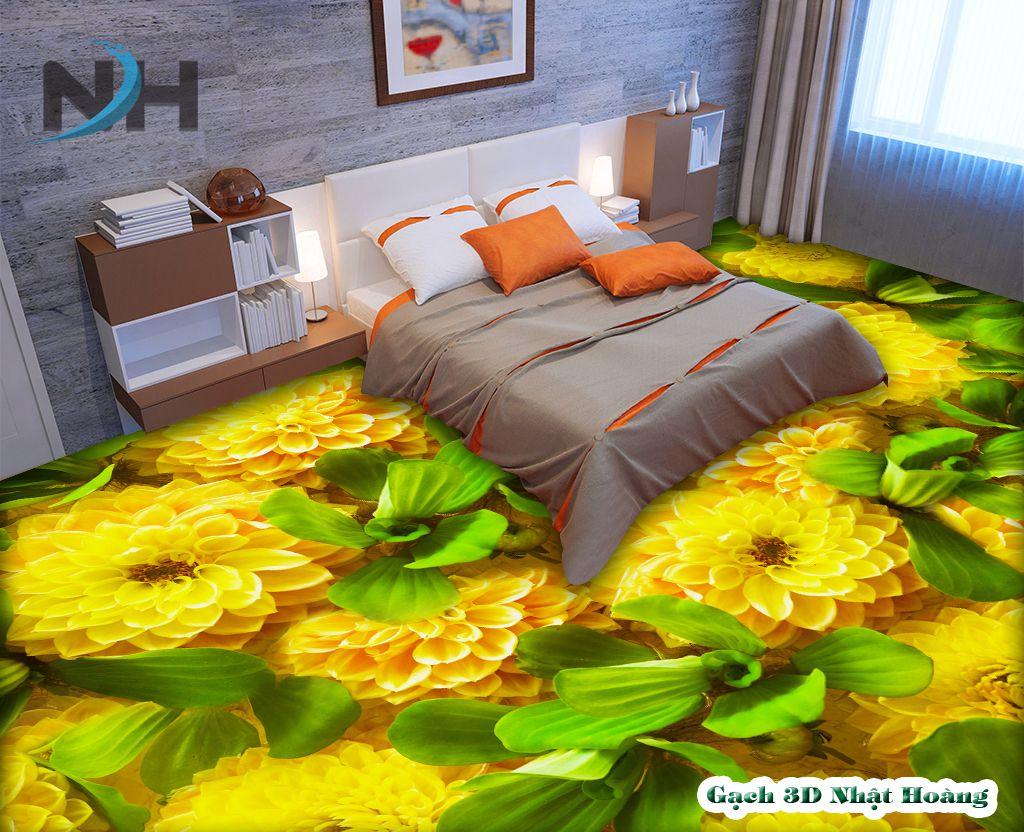Tranh gạch lát nền 3d phòng ngủ