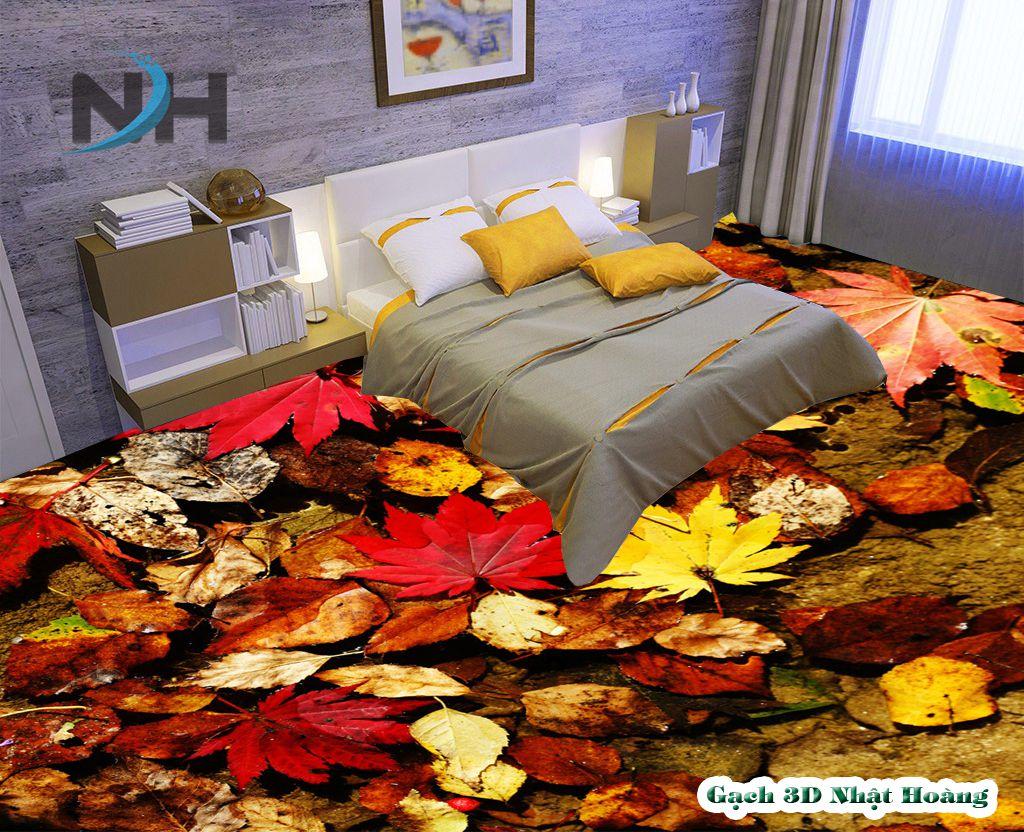 Tranh gạch lát nền 5d phòng ngủ