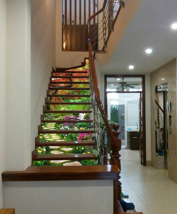 Tranh cầu thang 3d cho nhà cũ