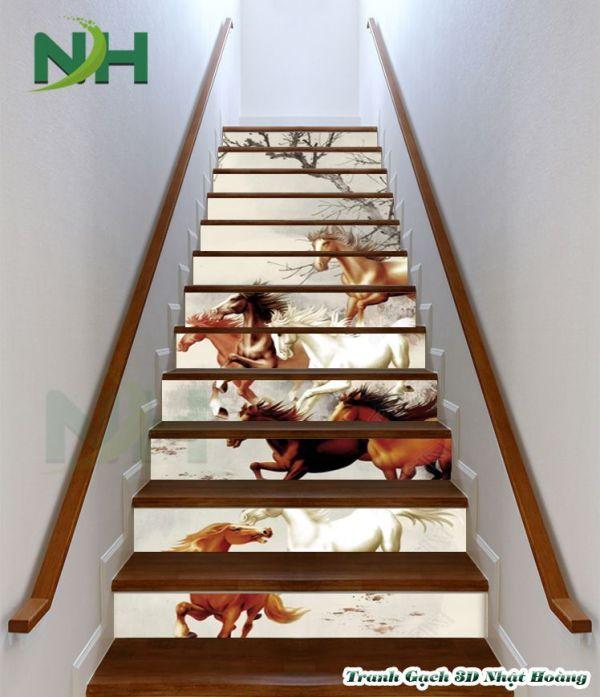 Tranh gạch 3D cầu thang
