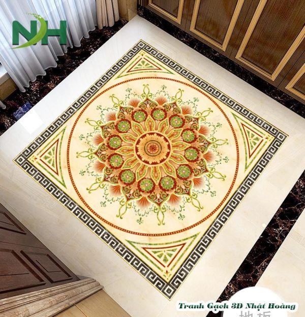 Tranh gạch thảm lát nền phòng thờ