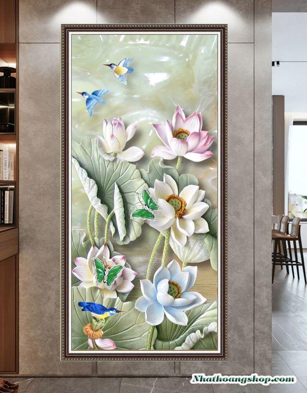 Tranh 3D treo tường mẫu hoa