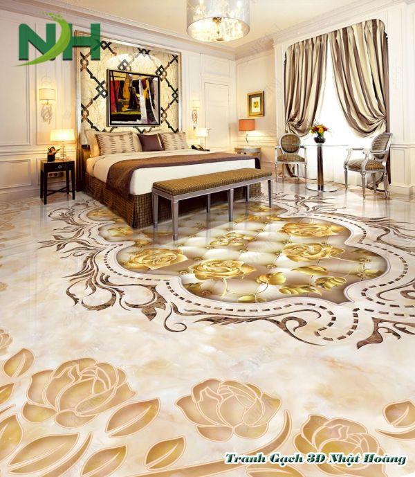 Tranh gạch 5D sàn cẩm thạch
