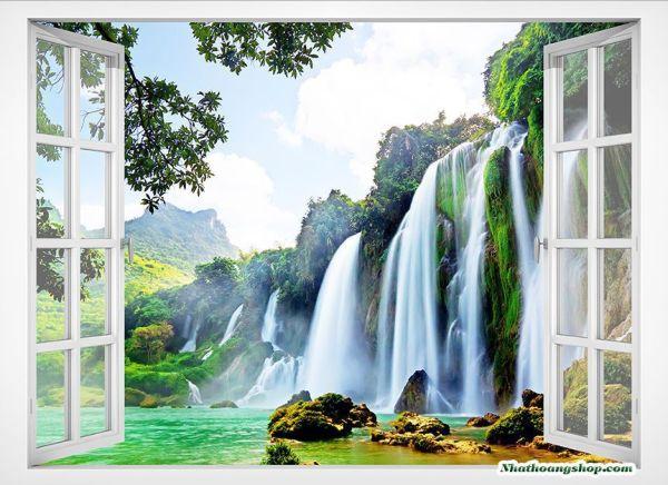 Tranh gạch cửa sổ 3D
