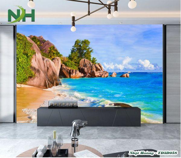 Tranh 3D phong cảnh dán tường