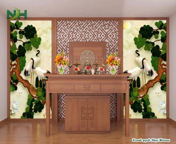Tranh gạch 3D phòng thờ